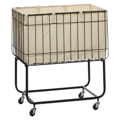 26 x 24 Contemporary Metal Storage Cart Color May Vary