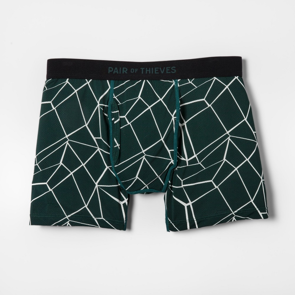 Pair of Thieves Men's Super Fit Boxer Briefs - Forest Green L
