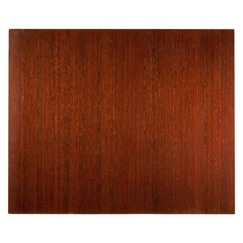 "Image of ""3'5""""X4' Bamboo Deluxe Roll-Up Chairmat With No Lip Brown - Anji Mountain"""