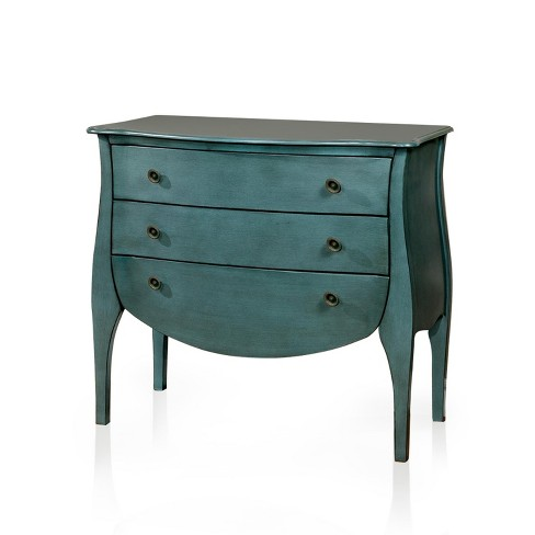 Sun & Pine Jenna French Country 3 Drawer Hallway Table Blue - image 1 of 2