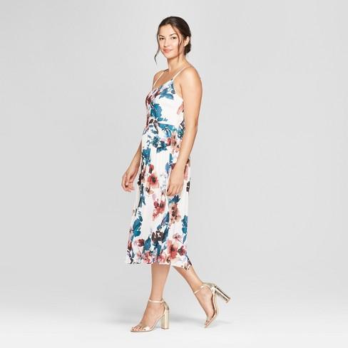 d963cc3330 Women s Floral Print Sleeveless Pleated Slip Dress - A New Day ...