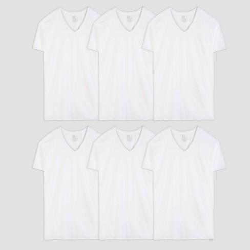 Fruit of the Loom Men's 6pk V-Neck T-Shirt - White - image 1 of 3