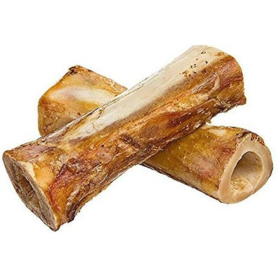 Pawstruck Meaty Dog Bones - Bulk Beef Dog Dental Treats & Chews, Made in USA, American Made, Shin Femur Meat Bone