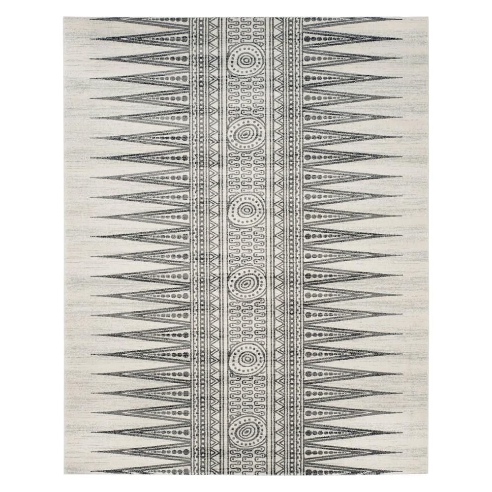 10'X14' Tribal Design Loomed Area Rug Ivory/Gray - Safavieh