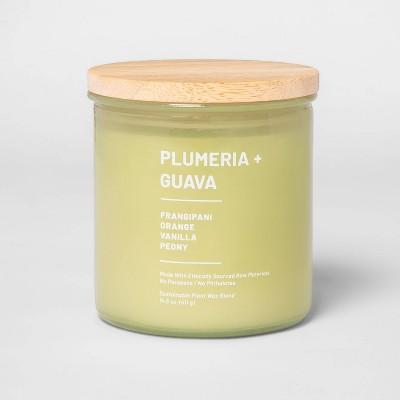 14.5oz Lidded Glass Jar 3-Wick Wellness Candle Plumeria & Guava - Project 62™