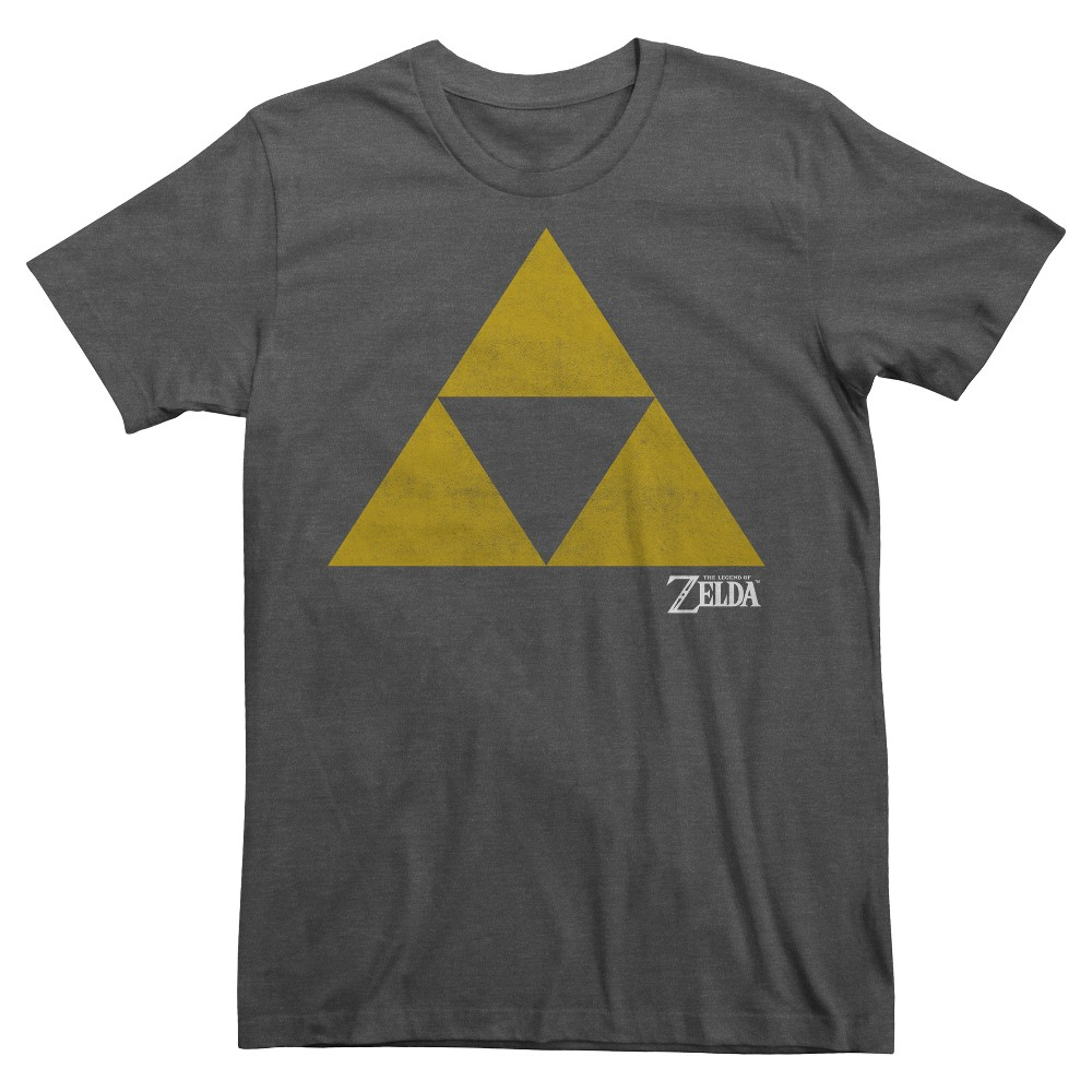 Men's The Legend of Zelda Triforce Logo T-Shirt Heather Gray XL