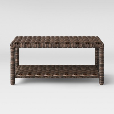 Monroe Wicker Rectangle Patio Coffee Table - Threshold™