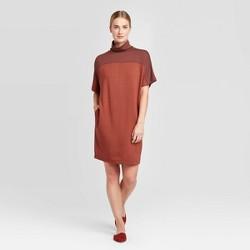 Women's Short Sleeve Turtleneck T-Shirt Dress - Prologue™ Red