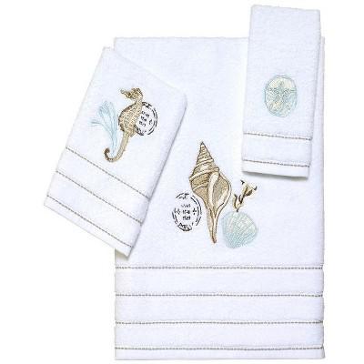 Avanti Farmhouse Shell 3 Pc Towel Set