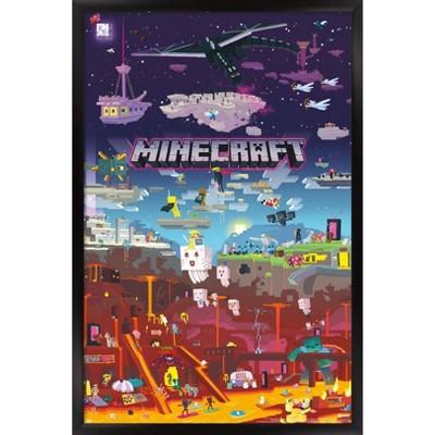 Minecraft - World Beyond Framed Poster Trends International