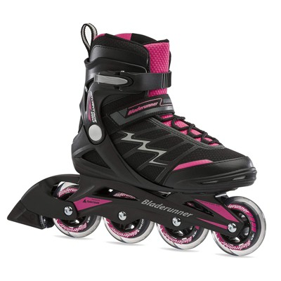 Rollerblade Bladerunner Advantage Pro XT Womens Adult Outdoor Recreational Fitness Inline Skate, Size 10, Black and Pink