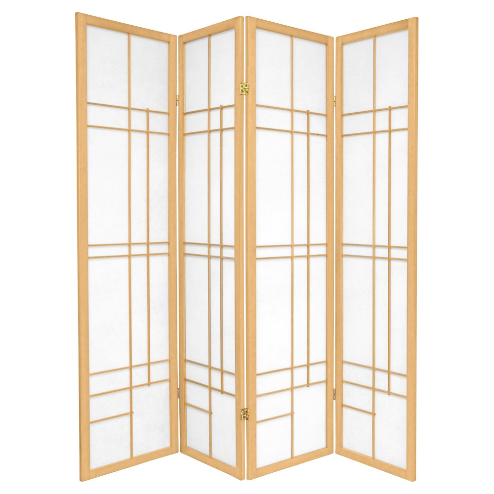 6 ft. Tall Eudes Shoji Screen - Natural (4 Panels)