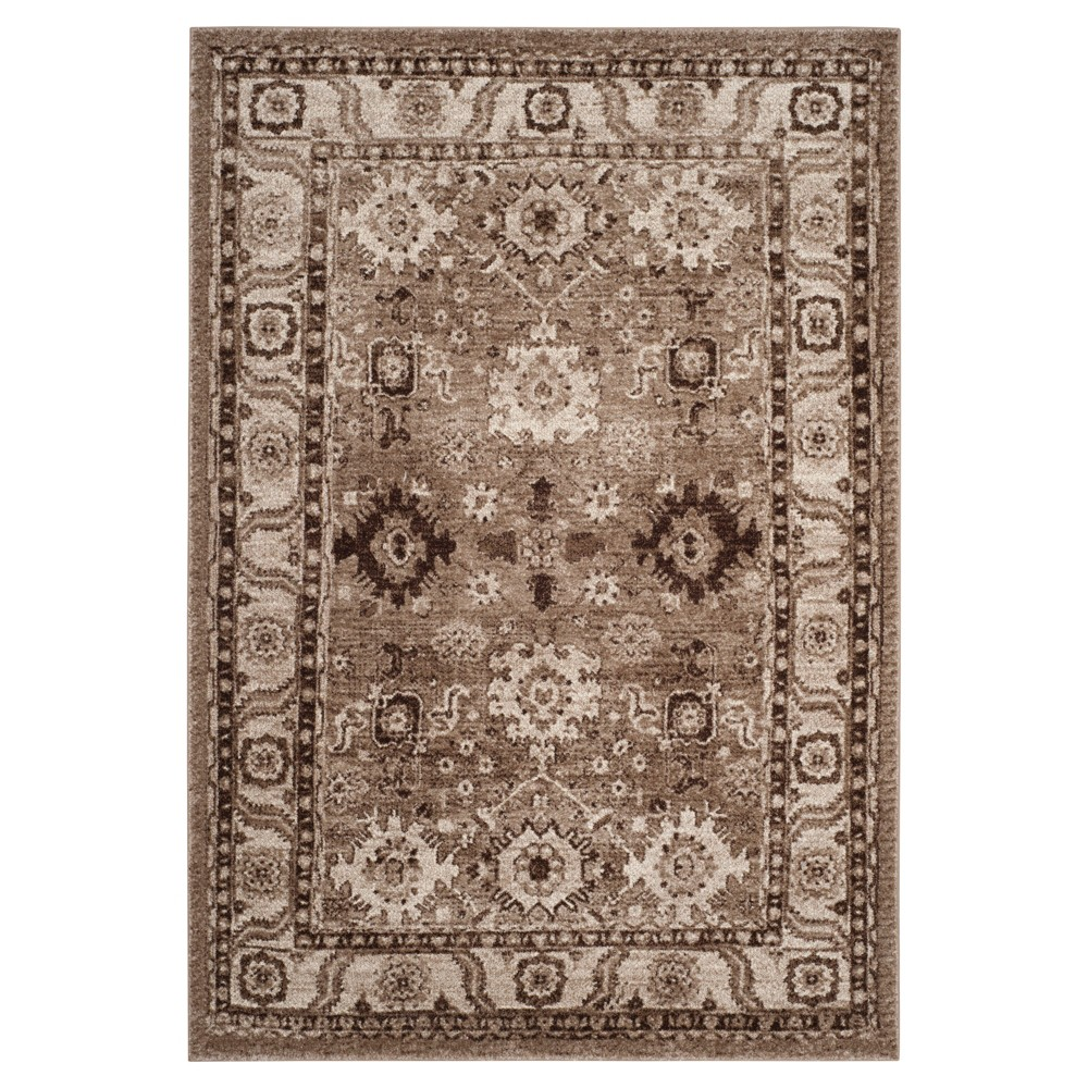 6'7X9' Holly Area Rug Taupe (Brown) - Safavieh