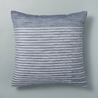"""18"""" x """"18 Faded Stripe Throw Pillow Faded Blue - Hearth & Hand™ with Magnolia"""