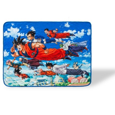 Just Funky Dragon Ball Super Flying Heroes Large Fleece Throw Blanket | 60 x 45 Inches