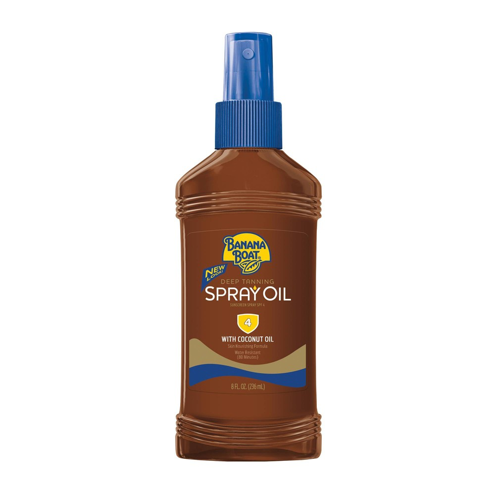 Image of Banana Boat Deep Tanning Oil Sunscreen Pump Spray - SPF 4 - 8oz