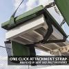 Eastpoint Sports Adjustable Bleacher Backrest Stadium Seat w/ Cup Holder, Green - image 4 of 4