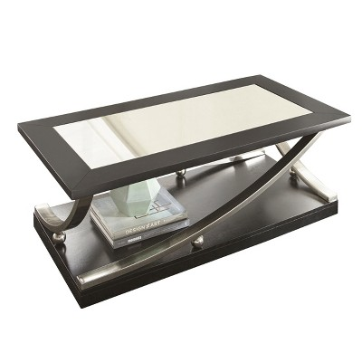 Ramsey Cocktail Table with Casters Black - Steve Silver