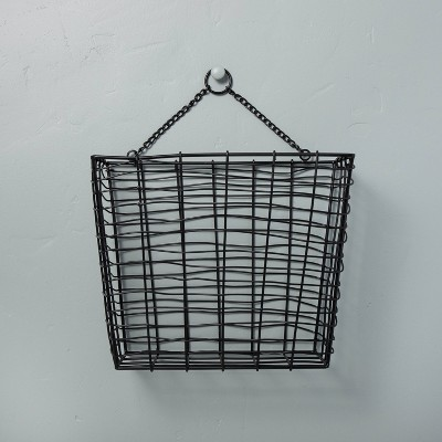 Hanging Wire Storage Basket Black - Hearth & Hand™ with Magnolia