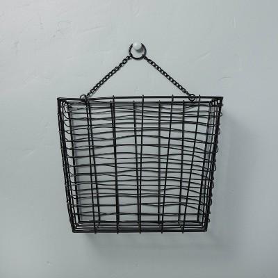 Hanging Wire Storage Basket Black - Hearth & Hand™ with Magnolia