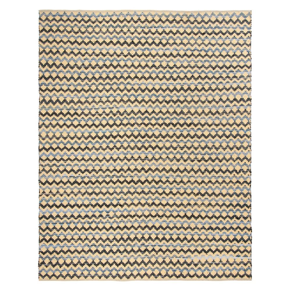 8'X10' Geometric Woven Area Rug Gold/Blue/Black - Safavieh