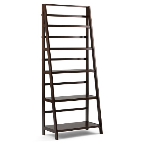 "72""Acadian 5 Shelf Bookcase - Tobacco Brown - Simpli Home - image 1 of 7"