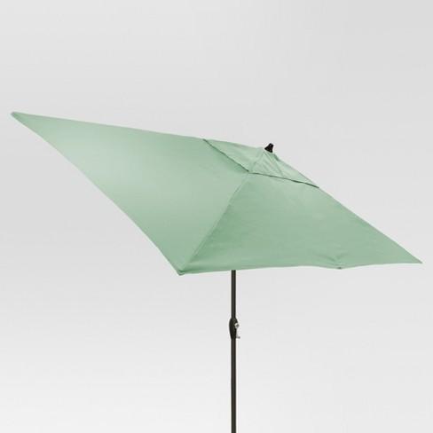 6.5' x 10' Rectangular Patio Umbrella - Black Pole - Threshold™ - image 1 of 1