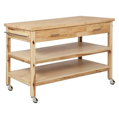 Lovett Kitchen Cart Natural - Powell Company - image 1 of 4