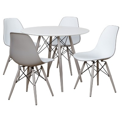 Elba Dining Set White/Gray - Buylateral