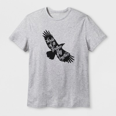 Men's Short Sleeve 'Birds of A Feather' Graphic T-Shirt - Heather Gray L