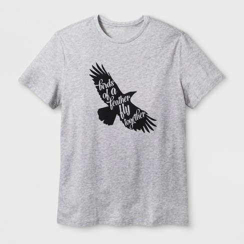 "Men's' Short Sleeve ""Birds of A Feather"" T-Shirt - Heather Gray - image 1 of 2"