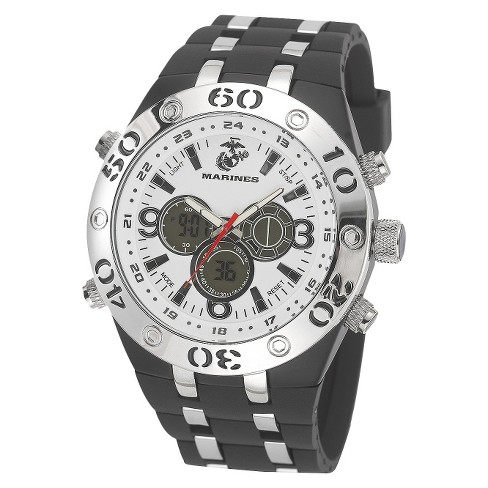 Men's' Wrist Armor U.S. Marine Corps C23 Analog-Digital Quartz Watch  - White - image 1 of 5