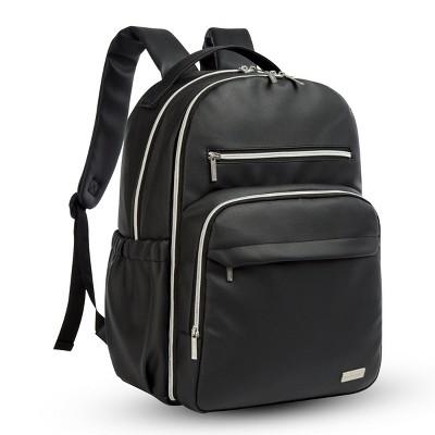 """KeaBabies Waterproof Diaper Bag Backpack, """"Ebony Black"""""""