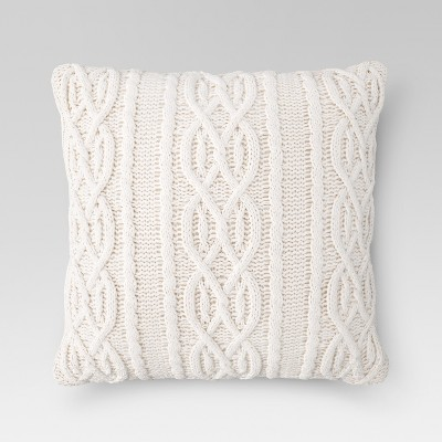 Cream Cable Knit Oversized Throw Pillow - Threshold™