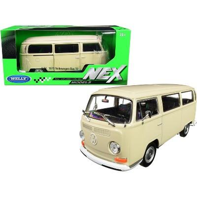 1972 Volkswagen T2 Bus Van Cream 1/24 Diecast Model by Welly
