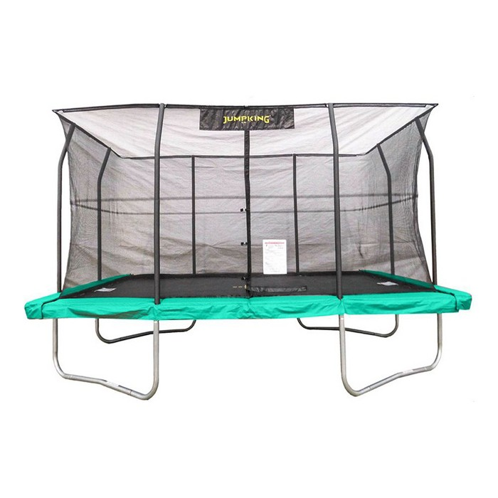 JumpKing JKRC1014C3 10 x 14 Foot Rectangular Trampoline with Safety Net Siding - image 1 of 6
