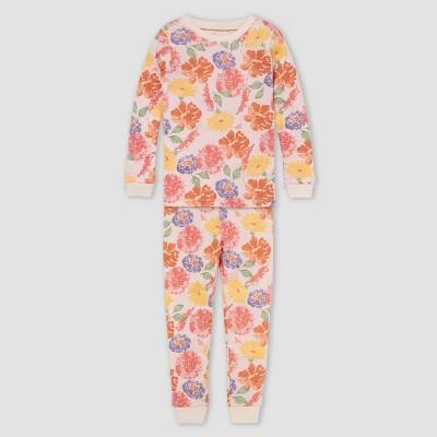 Burt's Bees Baby® Girls' 2pc Floral Organic Cotton Pajama Set - Cream