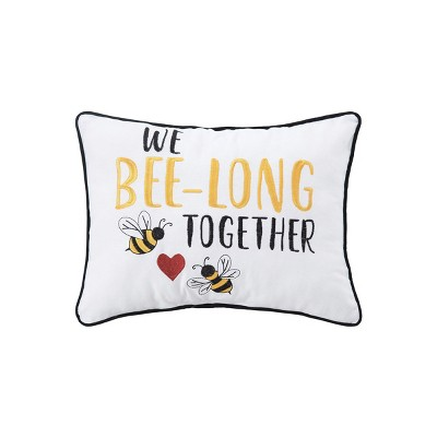 """C&F Home 12"""" x 16"""" Bee-long Together Embroidered Throw Pillow"""