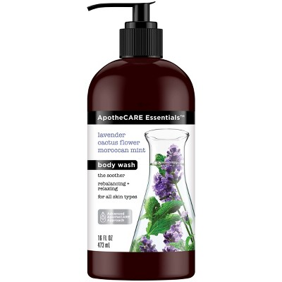 Apothe Care Essentials With Lavender Cactus Flower Moroccan Mint Body Wash   16 Fl Oz by 16 Fl Oz