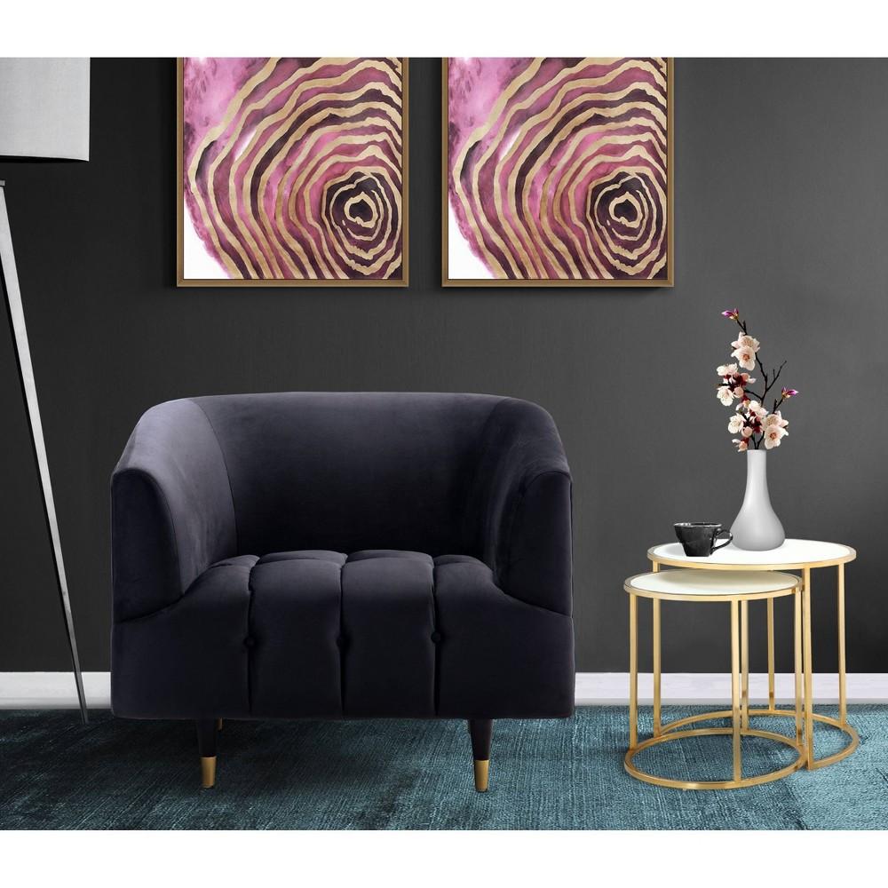 Ella Club Chair Black - Chic Home Design