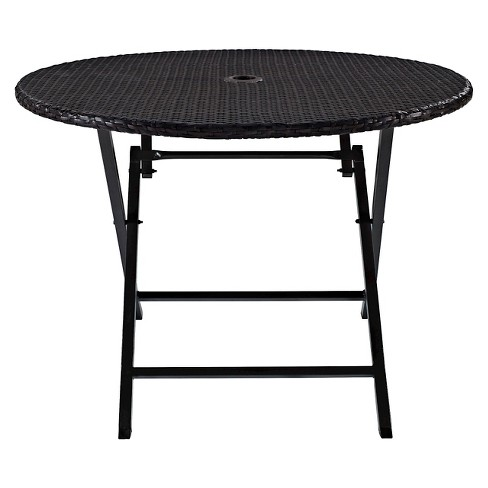 Palm Harbor Outdoor Wicker Folding Table Target
