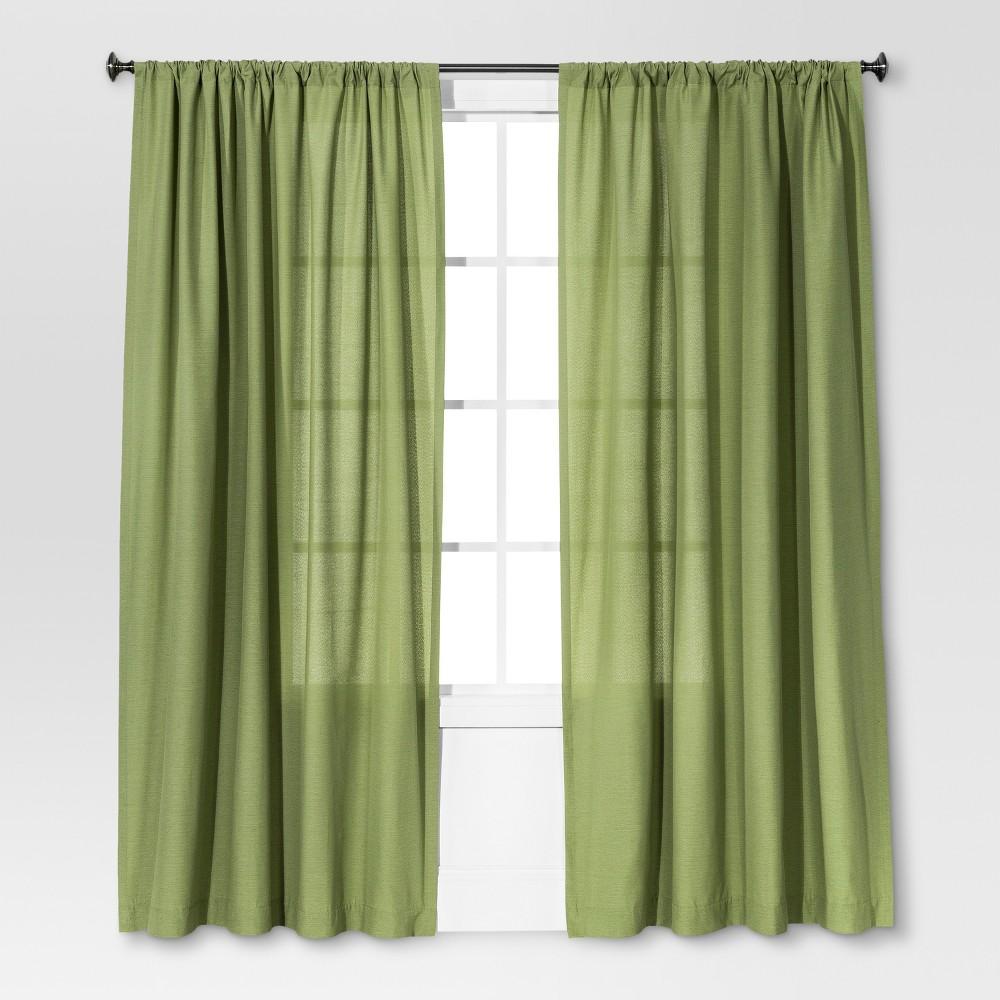 108 34 X54 34 Farrah Light Filtering Curtain Panel Green Threshold 8482