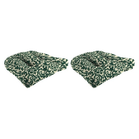 Outdoor Set Of 2 Wicker Chair Cushions In Duncan Hunter  - Jordan Manufacturing - image 1 of 1