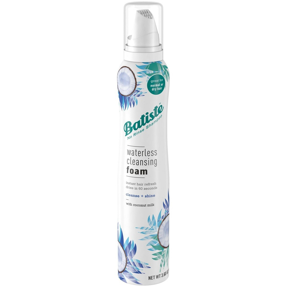 Image of Batiste Cleanse + Shine with Coconut Milk Waterless Cleansing Foam - 3.6oz