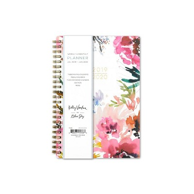 """2019 2020 Academic Planner 6""""X 8"""" Flexible Cover Floral Pink/White   Kelly Ventura For Blue Sky by 2020 Academic Planner 6""""X 8"""" Flexible Cover Floral Pink/White"""