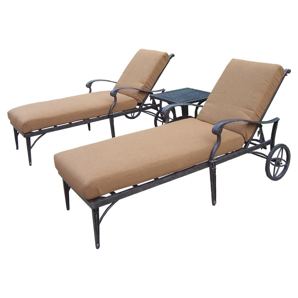 Rosemont 3-Piece Aluminum Conversation Furniture Set