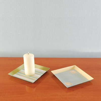Gallerie II Striped Candle Tray A/2