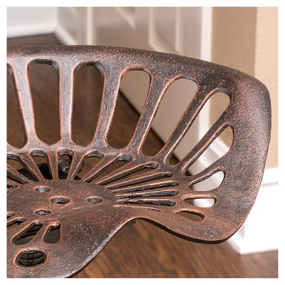"""Chapman 27.5"""" Saddle Barstool - Copper Christopher Knight Home : Target"""