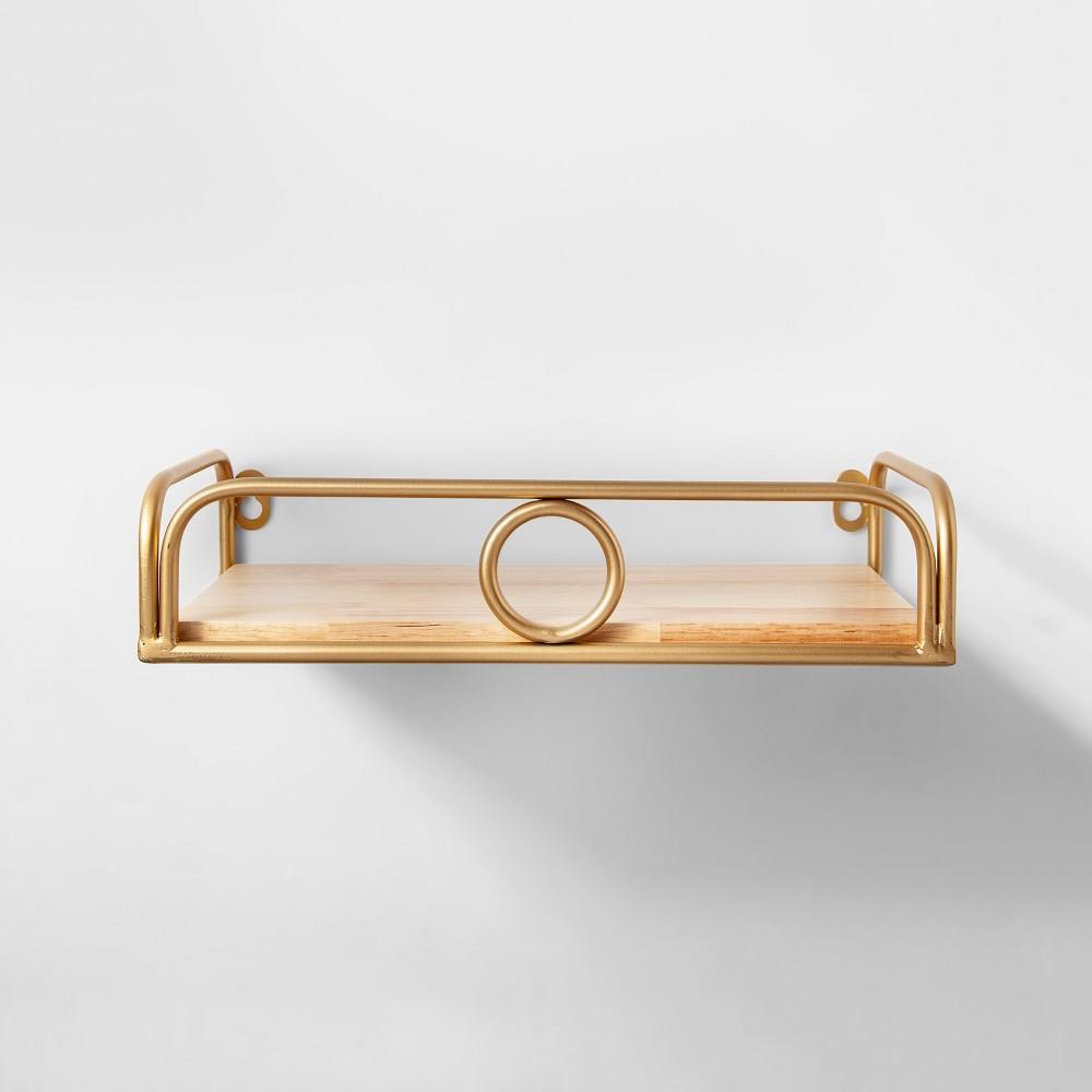 "Image of ""12"""" x 7"""" Decorative Wall Shelf Gold - Opalhouse"""