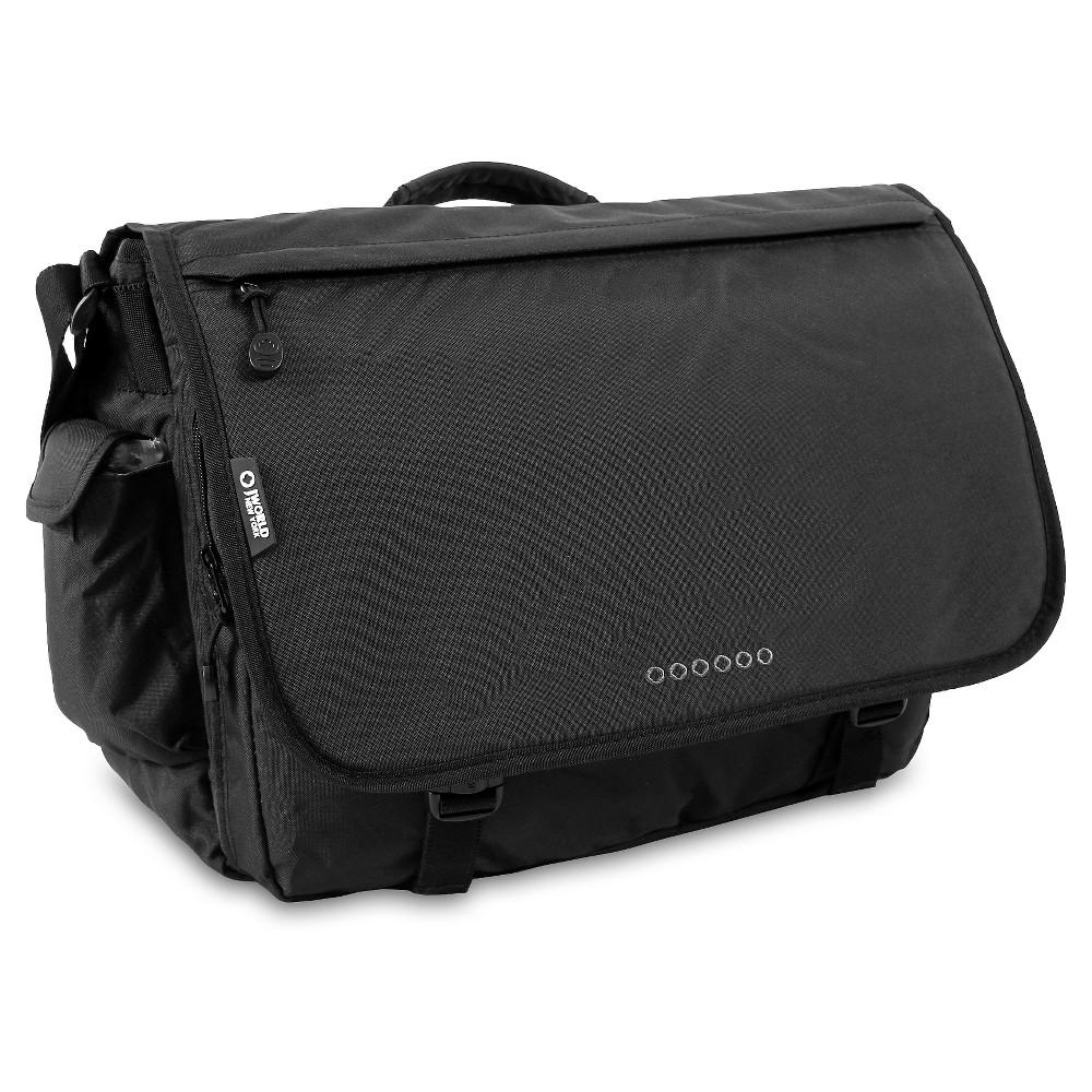 J World Thomas Laptop Messenger Bag- Black